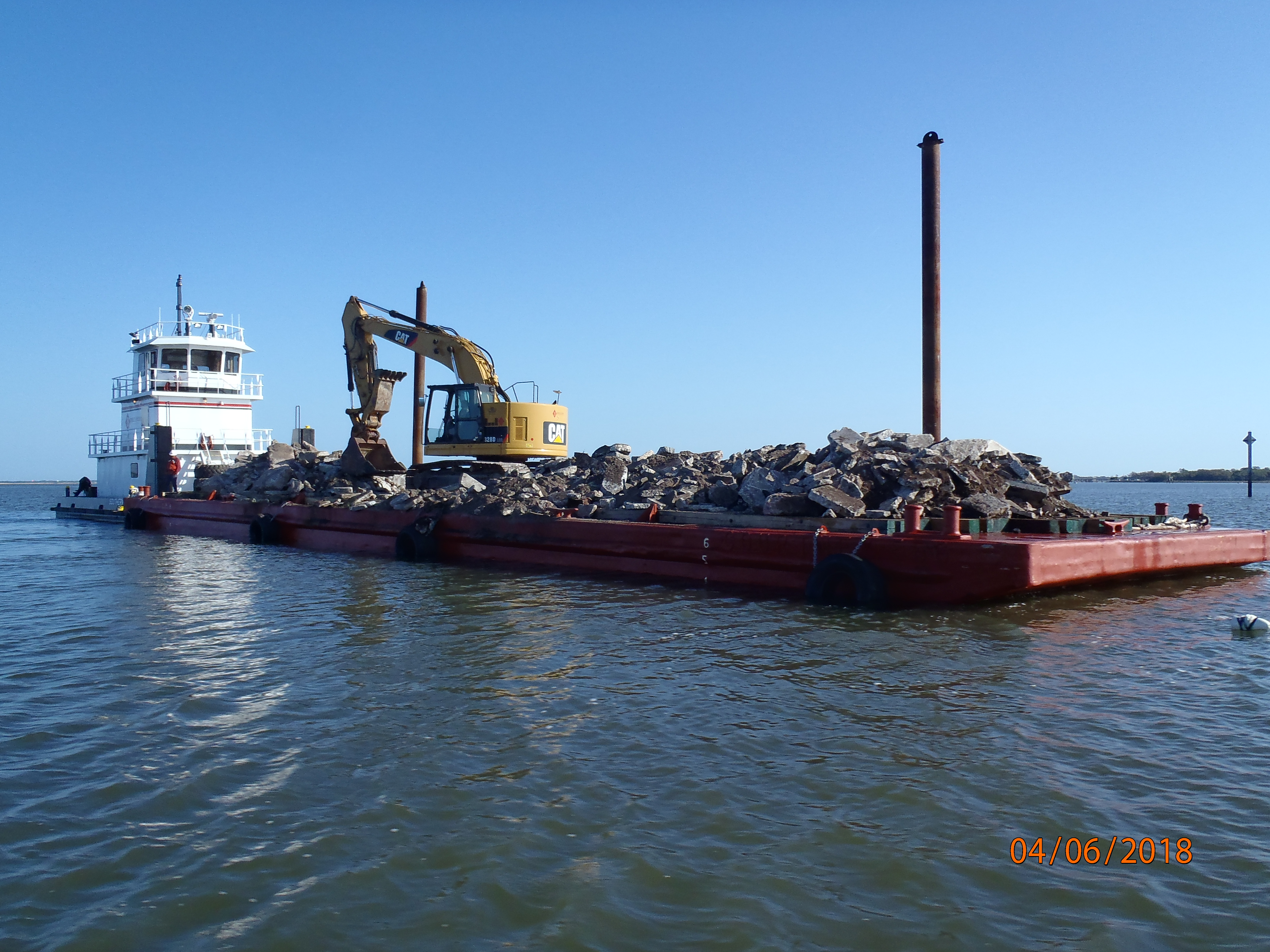 Barge of Reed Materials