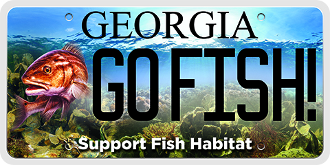 Marine habitat license plate coastal resources division for Georgia dnr fishing license