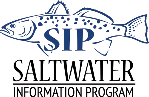 Graphic depicting the Saltwater Information Program logo