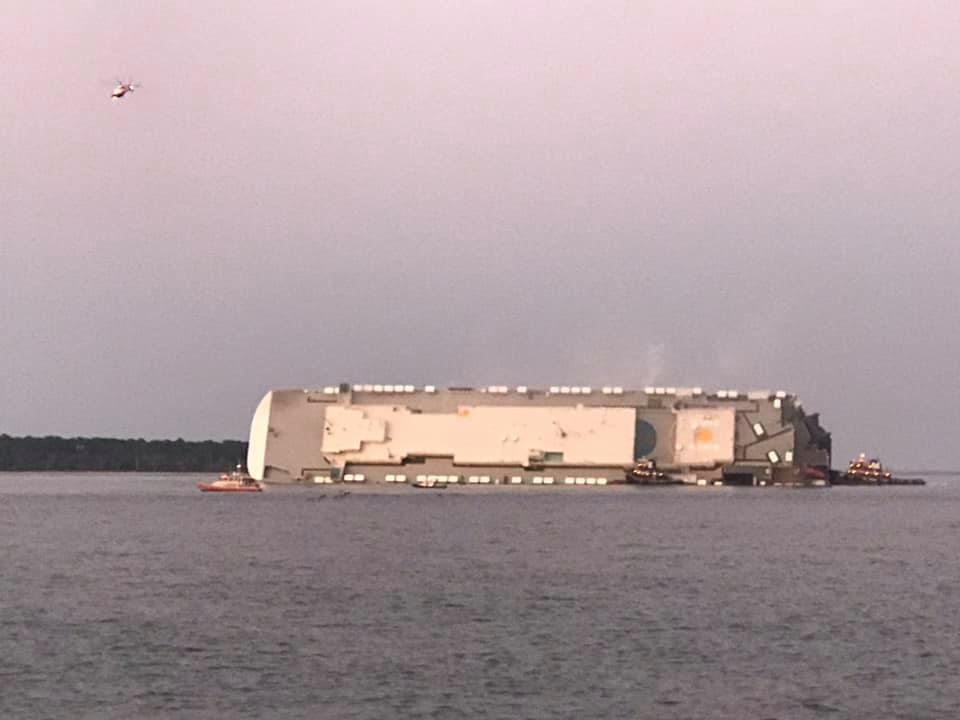 Capsized vessel