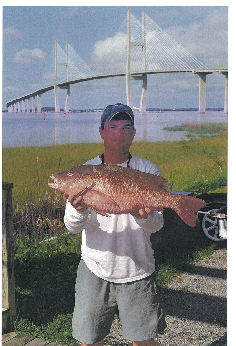 David Blackshear with Gray Snapper